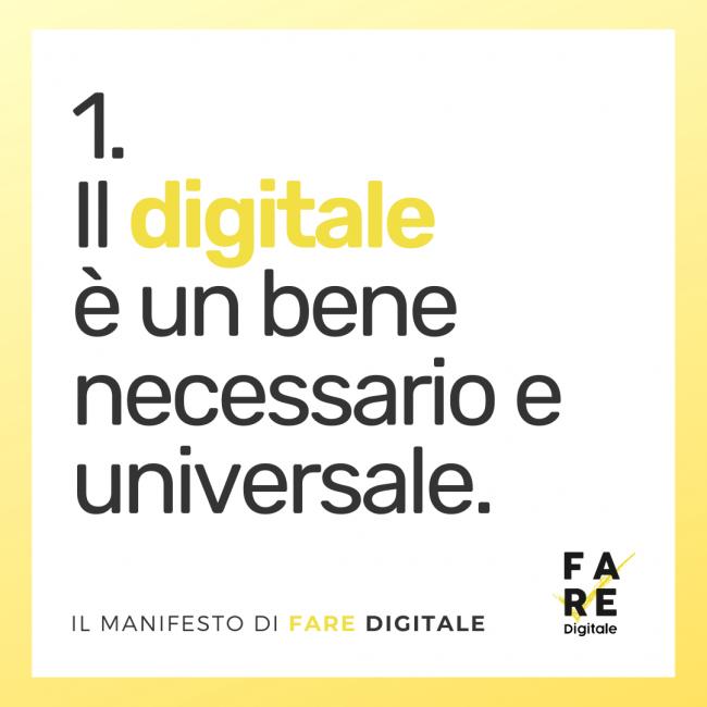 digitale bene necessario
